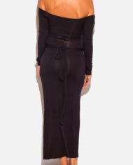 shopdaviderick-WOMENS-BLACK-CUT-OUT-OFF-THE-SHOULDER-LONG-SLEEVE-MAXI-DRESS-2