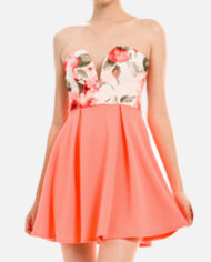 Shopdaviderick-women-coral-print-dress